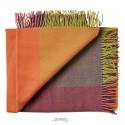 Merino uld plaid Mix farve orange-01