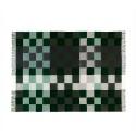 Plain beat uld plaid Mørk grøn-01