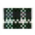 Plain beat uld plaid - Mørk grøn