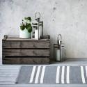 Plastik gulvtæppe Grå/offwhite strib-02