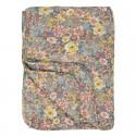 Ib Laursen - Quilt Rosa, gul og turkis blomst