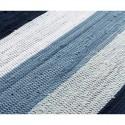 Kludetæppe bomuld Hvid/blå strib-01