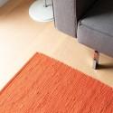 Kludetæppe bomuld Solar orange-02