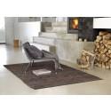 Rug Solid læder gulvtæppe - Brun