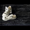 Læder gulvtæppe Sort-01