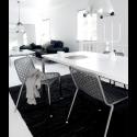 Rug Solid læder gulvtæppe - Sort