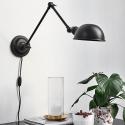 Væglampe - Nordal Aura sort
