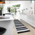 Plastik gulvtæppe Sort/hvid/grå-00
