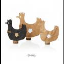 Oohh påskepynt Papir høne-01