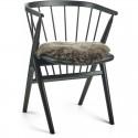 Rundt sæde skind til stol Ø38cm
