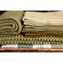 Solwang strikket håndklæde Oliven-02
