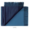 Merino uld plaid Mix farve Blå-01