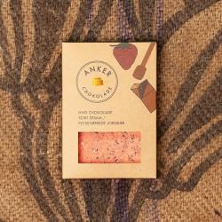 Anker chokolade - Hvid chokolade m/sesam og jordbær