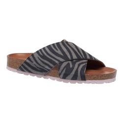 Annet sandal - Zebra m/ rosa bund