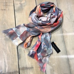 Aperitif tørklæde - coral/blå