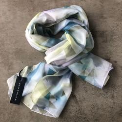 Aperitif silke tørklæde - Blue/lime
