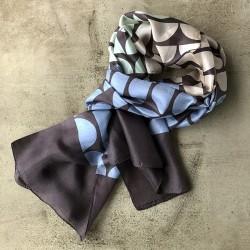 Aperitif silke tørklæde - pastel moon