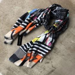 Aperitif tørklæde - Uld/silke Mosaik