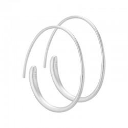 Aqua Dulce - Simply sølv hoops