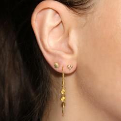 Aqua Dulce - Line øretråd forgyldt m/mønter