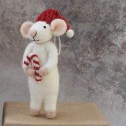 Én Gry & Sif - Hvid mus m/ sukkerstok