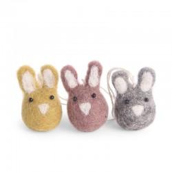 Én gry & Sif - Oph. 3 farvet mini harer