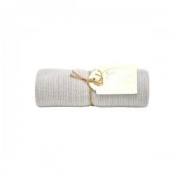 Solwang Strikket Håndklæde - lys grå