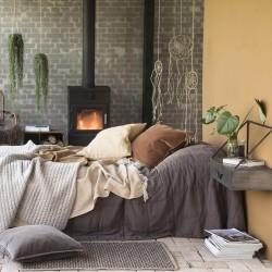 Ib Laursen - Quilt sengetæppe jord farvet