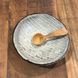 Salt ske i teak træ