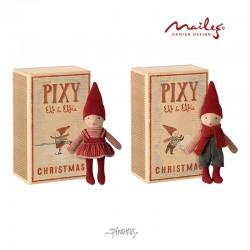 Maileg Jul - Pixy i box