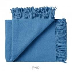 Uld plaid athen - Steel blue