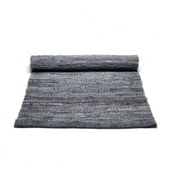 Rug Solid læder gulvtæppe - Grå
