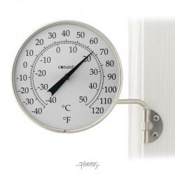 Udendørs alu sølv termometer - Rundt