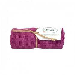Solwang strikket håndklæde - Blomme