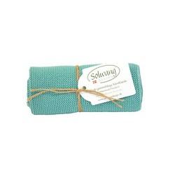 Solwang strikket håndklæde - lys petrol