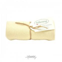 Solwang Strikket Håndklæde - Natur
