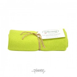 Solwang Strikket Håndklæde - Lime