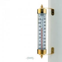 Maxi udendørs termometer i messing
