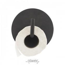 Toiletpapirholder Text - Sort
