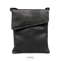 Flap over taske alligator
