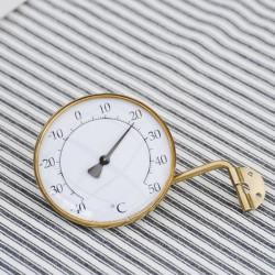 Udendørs messing-termometer - Rundt