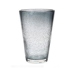 Vandglas høj GRÅ-BLÅ M/BOBLER