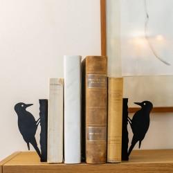 Wildlife Garden - Sort silhuet bogstøtte