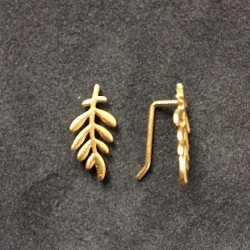 Øreringe - Forgyldt blad