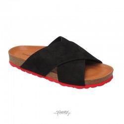 Annet sandal - sort-rød