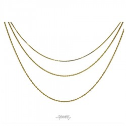 Aqua Dulce - Forgyldt tripel halskæde