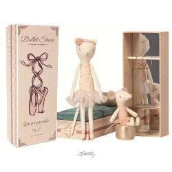 Maileg - Ballerina kat & mus i æske