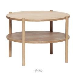 Rundt bord i egetræ Ø60cm