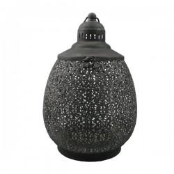 Dråbeformet Lanterne grå H35,5cm