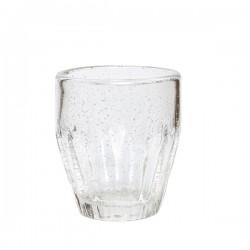 Drikkeglas m/ riller H10cm